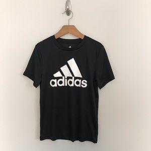 Adidas Climalite Boys Black White T-Shirt Size S 8